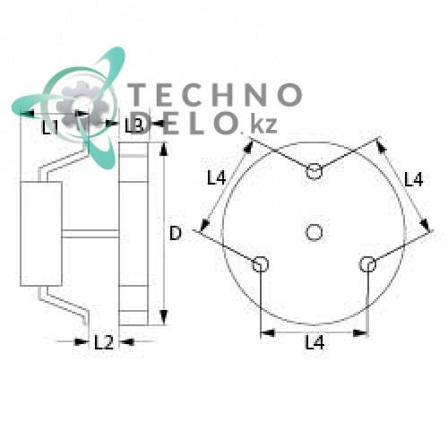 Электромотор-вентилятор FIME C25R8023CLH 0.4кВт для печей Coven, Bartscher, Roller-Grill и др. Фото: 0