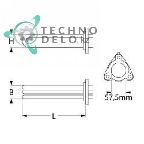 Тэн 10500Вт 230В 0L2727 для машины посудомоечной Zanussi/Electrolux 400100 идр.  Фото: 0