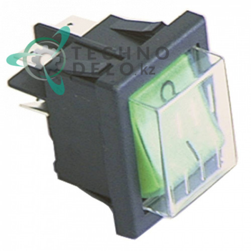 Выключатель зелёный 0-I 2NO 230В 16А 30x22мм IP65 23327 32W0860 для Angelo-Po, Animo, Bertos, Brema и др.