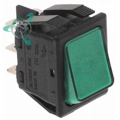 Переключатель 2CO зелёный 250V 16A IP40 CEDV01VSL 903613 для Mareno, Moretti, Omniwash, Silko, Silanos и др.