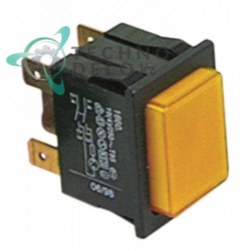 Выключатель 2NO (желтая кнопка) 226087 посудомоечной машины Colged, Eurotec, MKN и др.