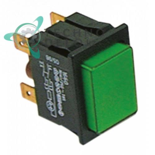 Выключатель 2NO (зеленая кнопка) 226086 посудомоечной машины Colged, Eurotec и др.