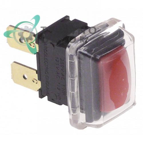 Кнопка 1NO 250V 16A A07014 A07015 3062550 6300676 для оборудования Angelo Po, Desco, Roller Grill и др.