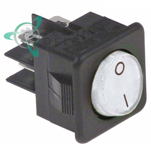 Выключатель балансирный белый монтаж 25,5x25 мм (2NO / 250В / 16А)
