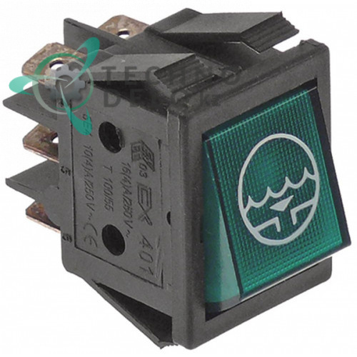 Выключатель кнопка сток 2CO 250В 30x22мм 130465 для Comenda