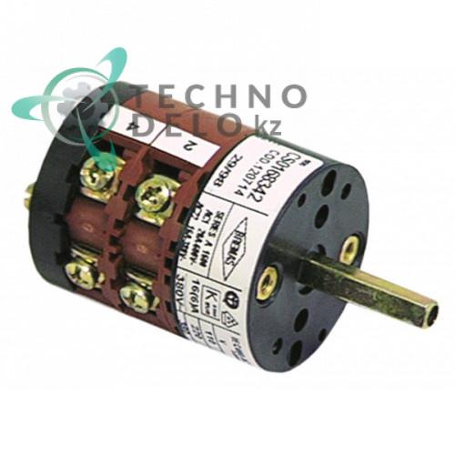 Выключатель Bremas серия A1600 16A ось 5x5мм 4 полюса для Comenda и др.