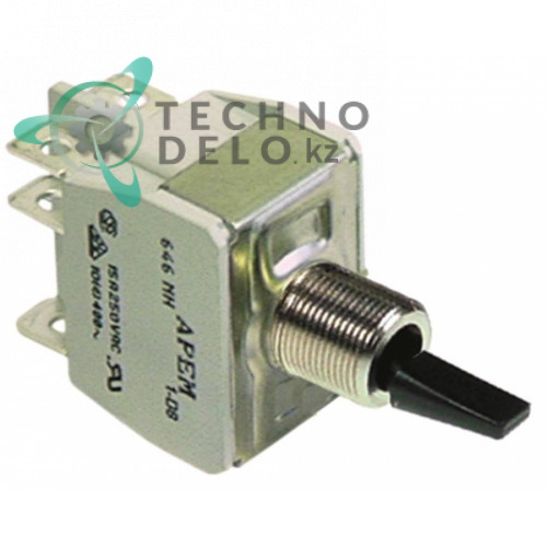 Тумблер 2CO 250В 10А M12 120711 120771 для посудомоечной машины Comenda