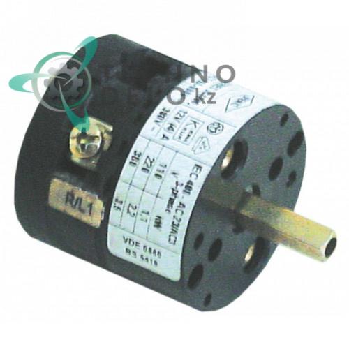 Выключатель поворотный Bremas CA0120001 0-1 380В ось 5x5мм 213001 для Elettrobar ME20 и др.