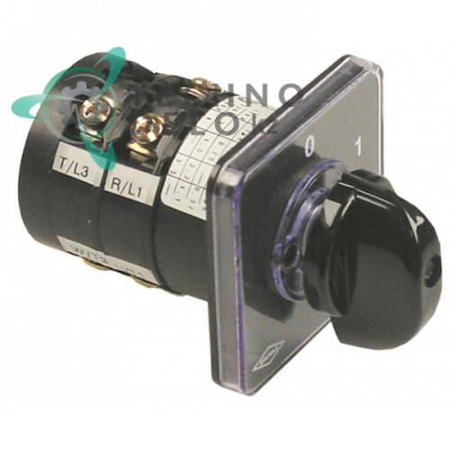 Выключатель поворотный Bremas CA0120003 (12A/380V) два положения для оборудования Pizza-Group и др.