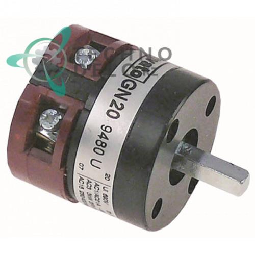 Выключатель Lovato GN20 9480 U 0-1 690V 20A ось 6x6мм для ATA AF61, AF88, AL30, AL35, AL40 и др.