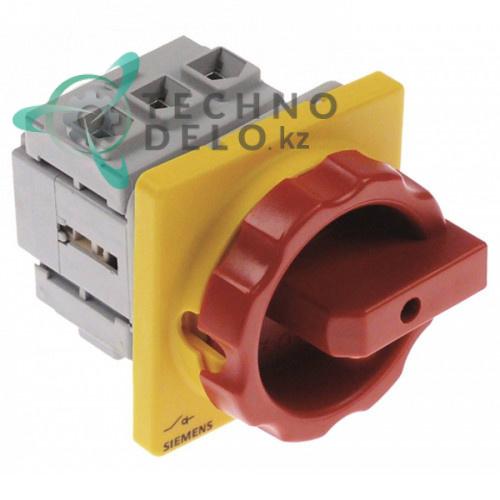 Выключатель Siemens 3LD2203-0TK53 0-1 600В 32А ось 5x5мм 74500480 для печи Moretti T75E и др.