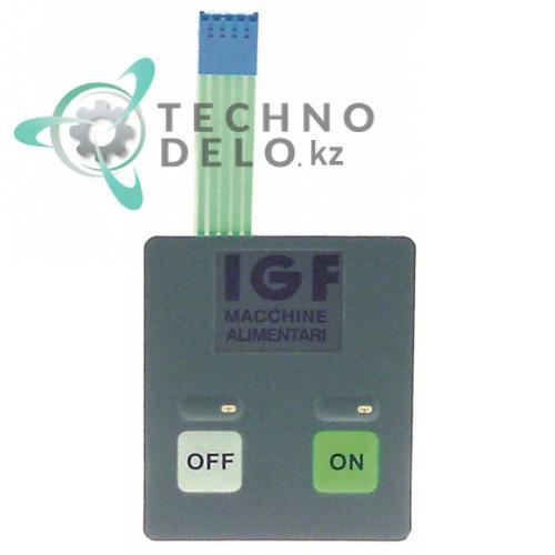 Панель управления (гибкая) ON-OFF 70x60мм для тестораскаточной машины IGF L30/B30/L40/B40