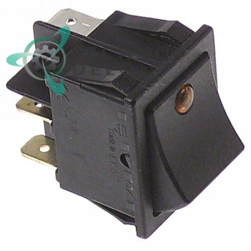 Кнопка пуск 1NO/лампа оранж. 12024213, Z203080, Z213001, Z213033 для посудомоечных машин Fagor