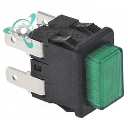 Выключатель (кнопка зеленая) 2NO 16A 1105324 62048700 для Scotsman