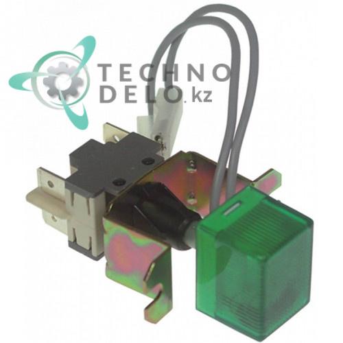 Выключатель кнопочный (зеленый) 0KK220 льдогенератора Electrolux, Zanussi и др.