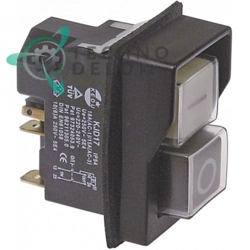 Кнопка двойная KJD17 (250В/10А) для оборудования Fama, Fimar, Sirman, Pizza Group и др.