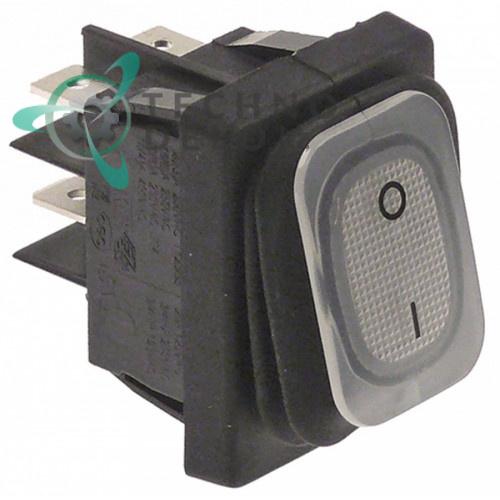 Выключатель 0-I (30x22мм 2NO 250В IP65) 1604071, 348035 для оборудования Orved, BFC, Royal, Sammic и др.