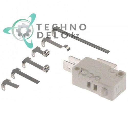 Микровключатель тип MS1-16 с набором рычажков усилие 100 гр (250В 16А 1CO)