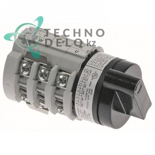 Переключатель Bremas CA0120670V 1-0-2 400В 12А ось 5x5мм I3632 для мясорубки Omas и др.