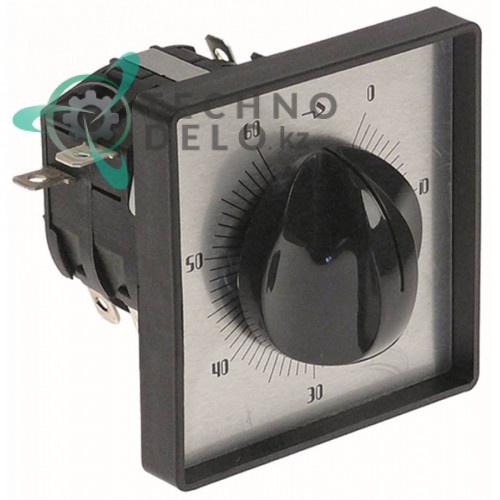 Таймер 120 минут C53 2NO/2NC 250В 72x72мм 4 полюса E452080 для оборудования Alimacchine, Capic и др.