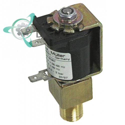 Клапан электромагнитный Muller 061240 230VAC 1/8 IG M16x1 (пар) для Bremer, Eloma, Palux и др.