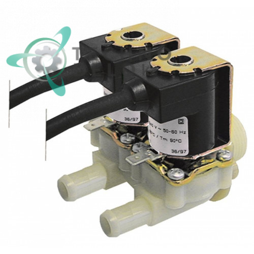 Клапан электромагнитный двойной Muller 230VAC 3/4 d11.5мм 30020304 для печи Krefft, Rational и др.