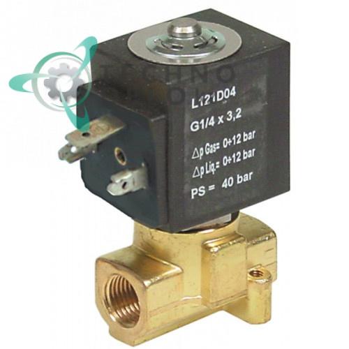 Клапан электромагнитный Sirai L121 L42мм 1/4 катушка ZA34A 230VAC 108035 для La San Marco и др.