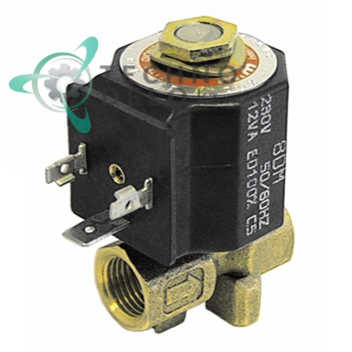 Клапан электромагнитный M&M D-249 1/4 L38мм 8700 230VAC