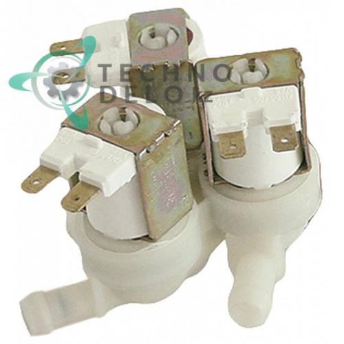 Клапан электромагнитный тройной TP 22507P 230VAC 3/4 d11.5мм 0E0330 для Electrolux, Silanos, Whirlpool и др.