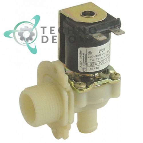 Клапан электромагнитный одинарный Muller 324207-2 посудомоечной машины Hobart