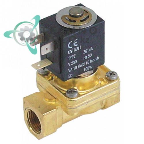 Клапан электромагнитный Sirai L145-R 1/2 L66мм Z614A 24VAC 120161 для Angelo Po, Comenda, Elframo и др.