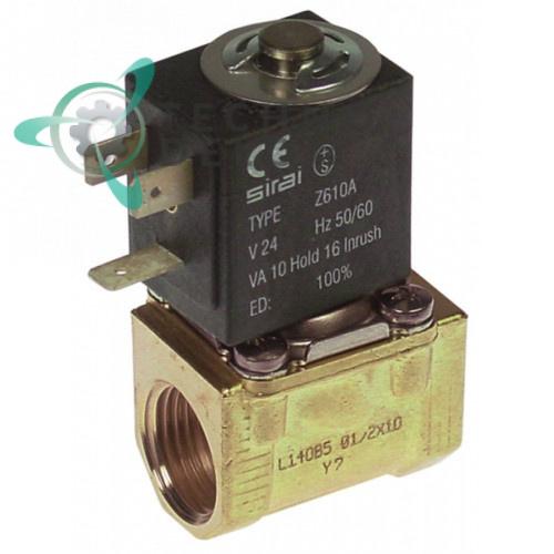 Клапан электромагнитный Sirai L140-B 1/2 L41мм 24VAC Z610A 33D1060 для Angelo Po, Comenda, Hoonved