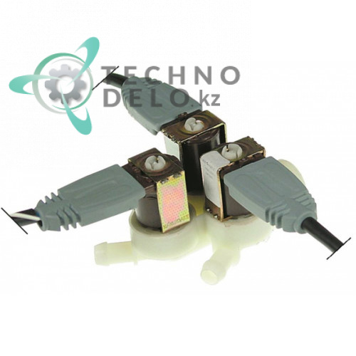 Клапан электромагнитный тройной Invensys 230VAC 3/4 d11.5мм 3002.0311 для Rational CD101/CD20/CD201 и др.