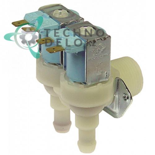 Клапан электромагнитный двойной TP 230V 3/4 d11,5мм 23502 для Brema, NTF и др.