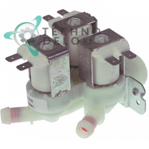 Клапан электромагнитный Elbi тройной 230VAC 3/4 d-12мм 0,5-2л/мин 23144 для льдогенератора Brema FM, NTF FRM35 и др.