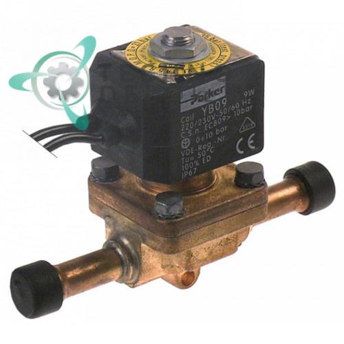 Клапан электромагнитный Parker VE-145 230В 0-10 bar d8мм 19863031 для Icematic и др.