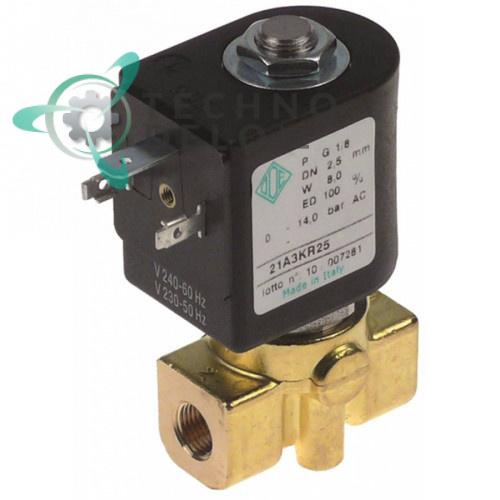 Клапан электромагнитный ODE 21A ADA 230VAC резьба 1/8 A1900002 для Fiorenzato, Grimac и др.
