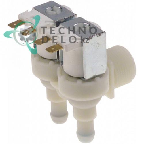 Клапан электромагнитный двойной TP 230VAC 3/4 d11,5мм 056894 для Electrolux, Zanussi