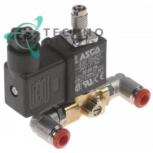 Клапан электромагнитный ASCO 24VAC NO JG 6мм 10539 21251 для Granuldisk