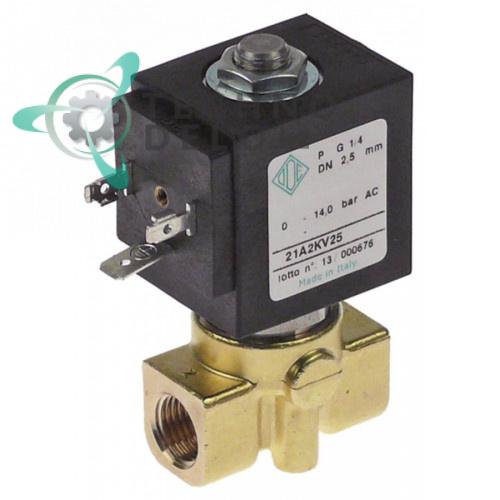 Клапан электромагнитный ODE 21A 230VAC BDA 1/4IG L40мм C-0207 кофемашины La Scala