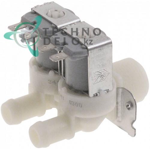 Клапан электромагнитный Elbi двойной 24V 3/4 d-13.5мм 046795 046796 для посудомоечной машины Electrolux CT-191DXE и др.