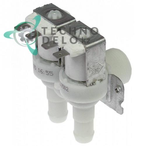 Клапан электромагнитный Elbi двойной 230VAC 3/4 выход d-14мм 10 л/мин 241447 049056 для Bonnet, Electrolux, Zanussi