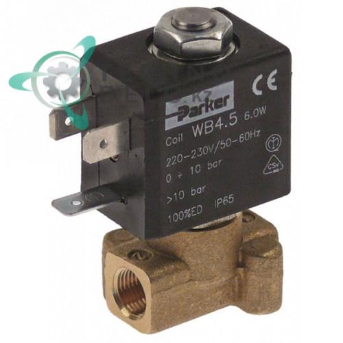 Клапан электромагнитный Parker резьба 1/8 L30мм катушка WB4.5 230VAC (переменный ток) для Carimali и др.