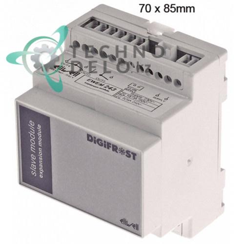 Контроллер Eliwell EWEM243 DS440000DC702 RS485 70x85мм 230VAC датчик NTC/PTC 4 реле -55 до +150°C для Electrolux