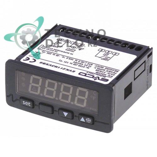 Контроллер EVCO EVK211N3VXBS 71x29мм 12/24 VAC/VDC датчик NTC/PTC 1 реле 1681101 1681140 для Bonnet, Polaris и др.
