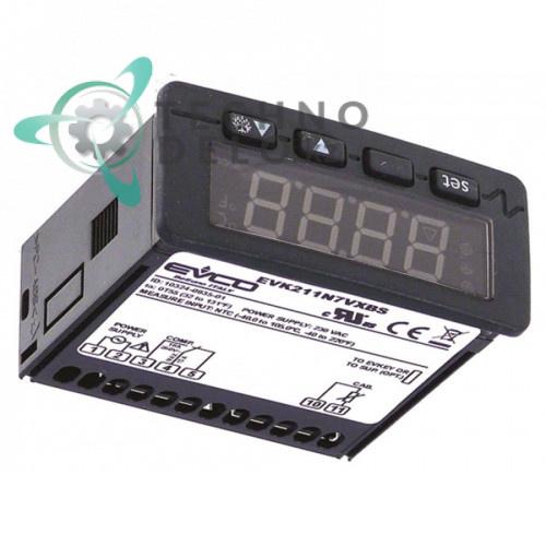 Контроллер EVCO EVK211N7VXBS 71x29мм 230VAC датчик NTC/PTC 32V7820 32V8590 для Angelo Po, Sagi и др.