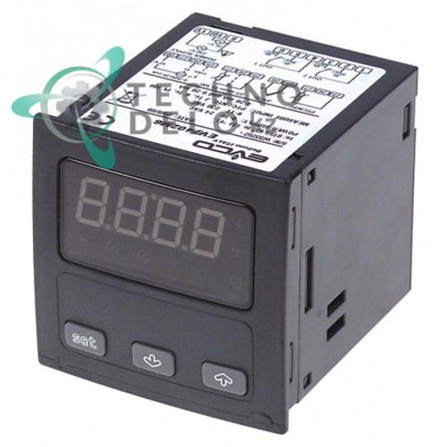 Контроллер EVCO EV7402 66,5x66,5мм 24/230VAC датчик NTC/PTC/Pt100/TC IP54 ET1073 для Sogeco, Delrue и др.