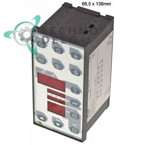 Контроллер EVCO EK354AJ7 66,5x138мм 230VAC датчик TC (J,K) 6 реле IP54 пицца-печи Rinaldi Superforni и др.