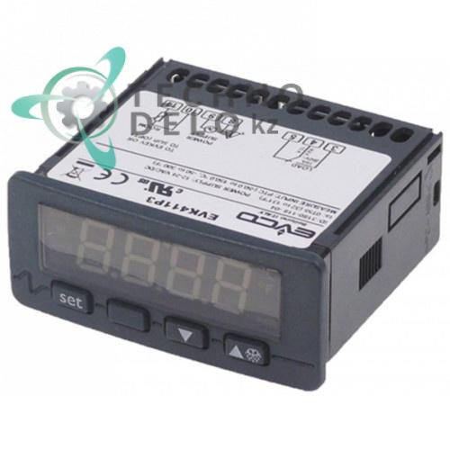 Контроллер EVCO EVK411 71x29 мм 12/24 VAC/VDC датчик PTC 1 реле IP65 -50 до +150°C  22192001 для Elframo, Komel и др.