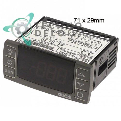 Контроллер Dixell XR72CX 71x29x59мм 12VAC/VDC датчик NTC/PTC 4 выхода реле 41825755200 для оборудования ISA и др.